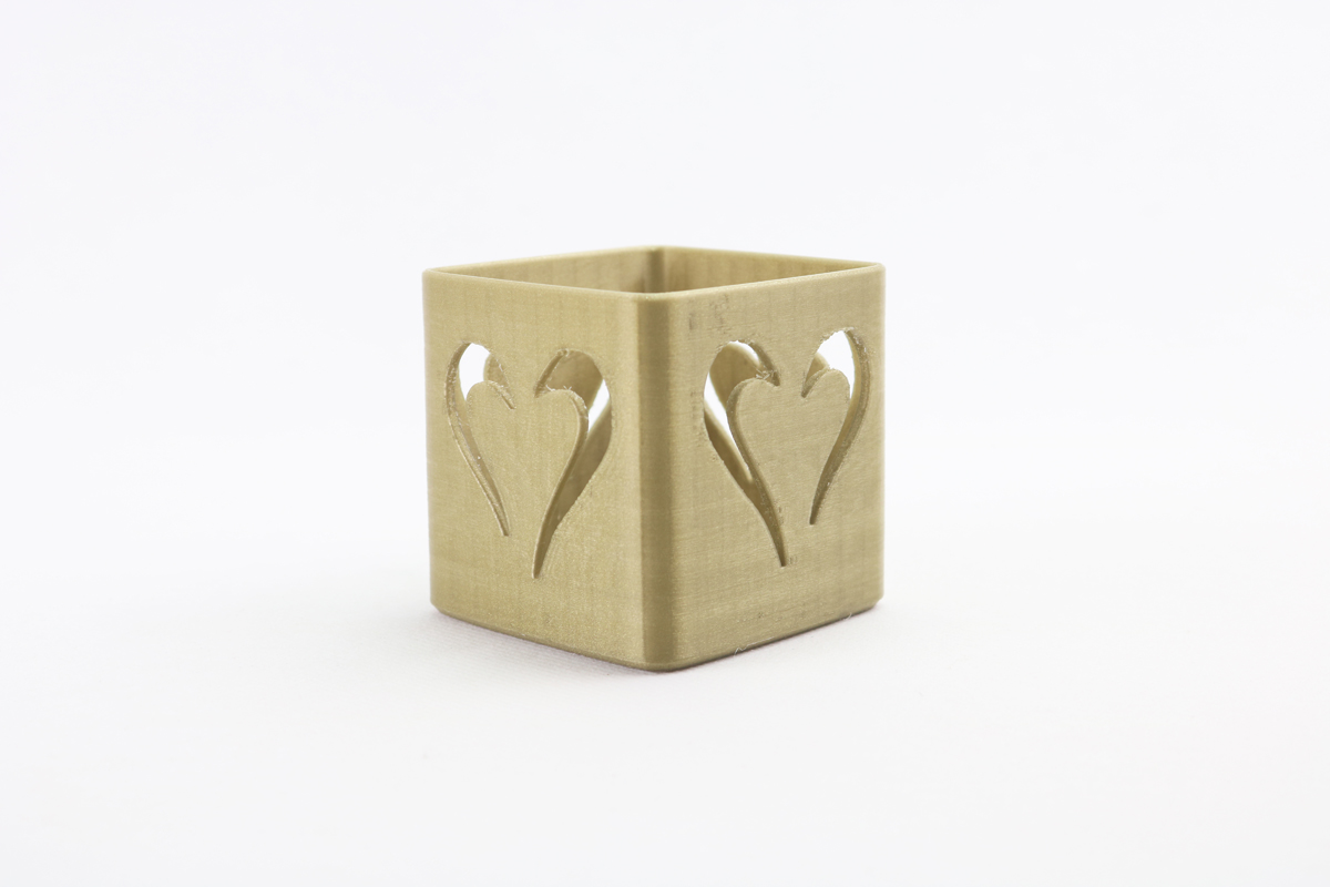 Tealight candle holder heart